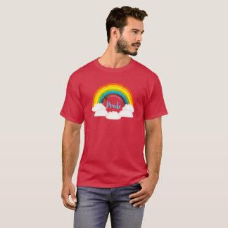 Camiseta T-shirt retro do orgulho do arco-íris