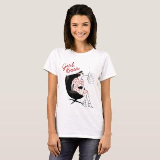 Camiseta T-shirt retro do poder da mulher da arte do chefe