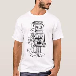 Camiseta t-shirt retro do robô dos anos 50