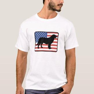 Camiseta T-shirt revestido liso americano do Retriever