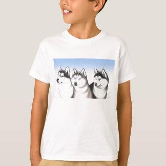 Camiseta T-shirt ronco dos cães de trenó do Malamute