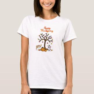 Camiseta T-shirt ronco feliz da acção de graças