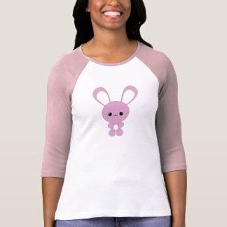 Camiseta T-shirt roxo bonito do coelho do bebê de Kawaii