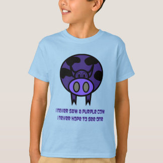 Camiseta T-shirt roxo da vaca