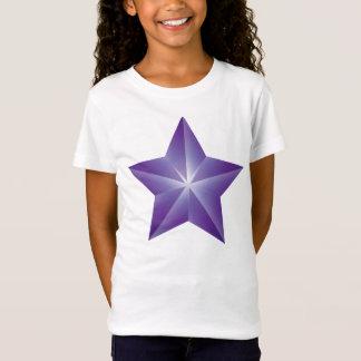 Camiseta T-shirt roxo das meninas da estrela