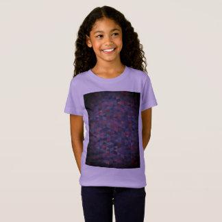 Camiseta T-shirt roxo das meninas/lavanda doce