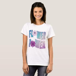 Camiseta T-shirt roxo de flower power