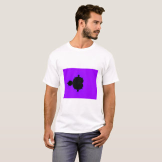 Camiseta T-shirt roxo do Fractal de Mandelbrot do fundo