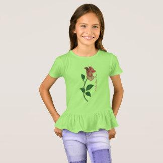 Camiseta T-shirt Ruffled rosa de Kelly Jean