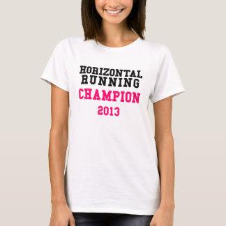 Camiseta T-shirt Running horizontal das senhoras do campeão