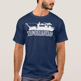Camiseta T-shirt sadio dos azuis marinhos dos homens do