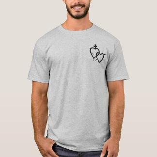 Camiseta T-shirt sagrado do nó do coração/trindade