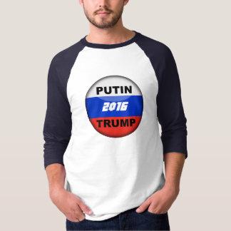Camiseta t-shirt Satirical 2016 do russo 3/4 do trunfo