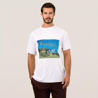 Camiseta T-shirt seco dobro da malha de Wyoming