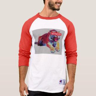 Camiseta T-shirt selvagem da vida do campeão