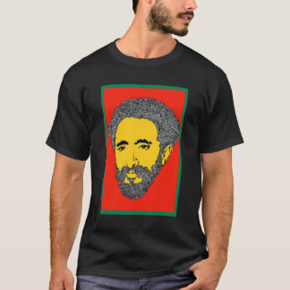 Camiseta T-shirt sem-palavras de Haile Selassie