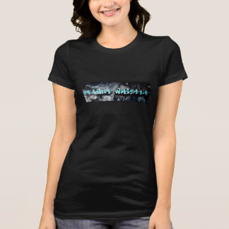 """Camiseta T-shirt """"sexy"""" do logotipo do pnutwhistle do zombi"""