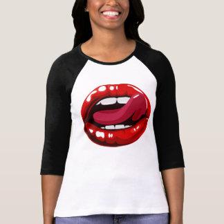 """Camiseta T-shirt """"sexy"""" dos lábios para a mulher"""