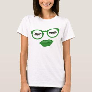 "Camiseta T-shirt ""sexy"" dos vidros verdes"