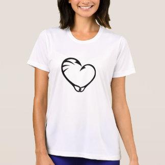 Camiseta T-shirt simples da pesca de gancho do coração da