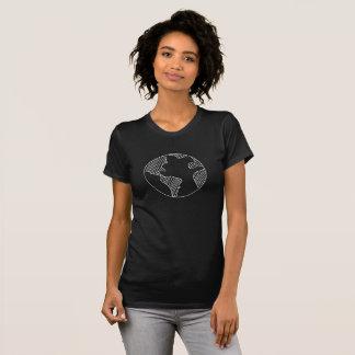 Camiseta T-shirt simples do design do esboço da terra do