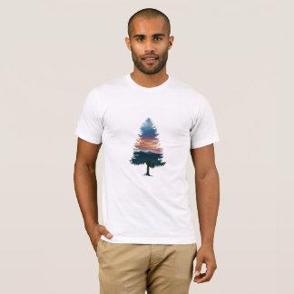 Camiseta T-shirt simples estético da árvore do por do sol
