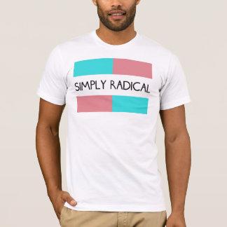 Camiseta T-shirt simplesmente radical da parte dianteira da
