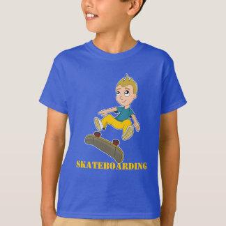 Camiseta T-shirt Skateboarding dos desenhos animados do