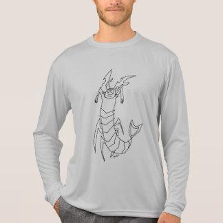 Camiseta T-shirt sleeved longo com monstro