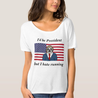 Camiseta T-shirt slouchy da divisa das mulheres