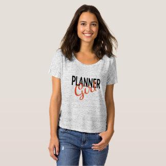 Camiseta T-shirt Slouchy da menina do planejador