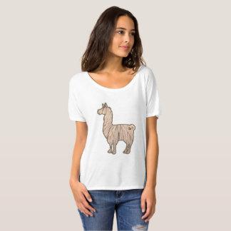 Camiseta T-shirt Slouchy das senhoras peludos do lama