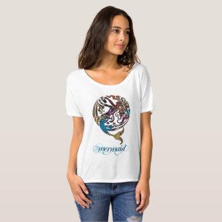 Camiseta T-shirt Slouchy do namorado da sereia de Hashtag