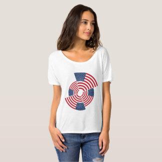 Camiseta T-shirt Slouchy do namorado das mulheres idosas da