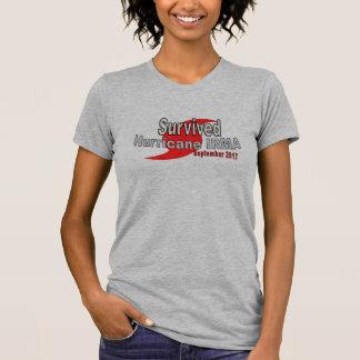 Camiseta T-shirt sobrevivido de Irma do furacão