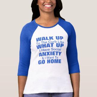 Camiseta T-shirt social da ansiedade! Personalize!