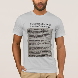Camiseta T-shirt socialista Democrática da educação do