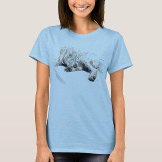 Camiseta T-shirt sonolento de Labradoodle