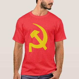 Camiseta T-shirt soviético do russo do martelo e da foice