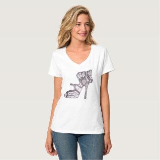 Camiseta T-shirt Strappy do salto alto