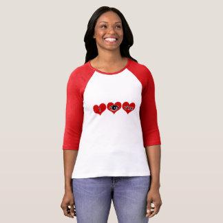 Camiseta T-shirt subtil das mulheres do dia dos namorados