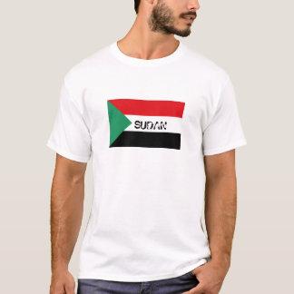 Camiseta T-shirt sudanês da lembrança da bandeira de Sudão