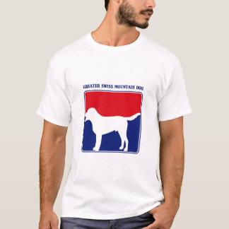 Camiseta T-shirt suíço do cão da montanha da liga principal