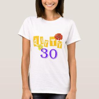 Camiseta T-shirt sujo de 30 aniversários