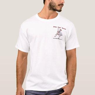 Camiseta T-shirt sujo do branco das patas