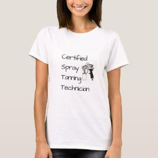 Camiseta T-shirt Tanning certificado do técnico do