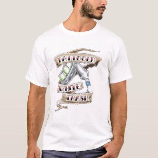 Camiseta T-shirt Tattooed do lixo branco