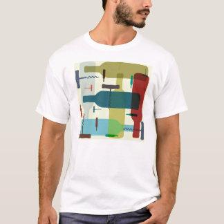 Camiseta T-shirt temático da garrafa de vinho
