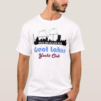 Camiseta T-shirt temático do iate do navio de navigação de