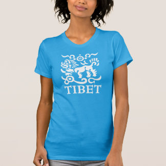 Camiseta T-shirt tibetano do leão da neve